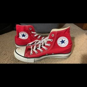 Red Converse Hightops